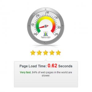 Binnen 20% van de snelste websites van de wereld!